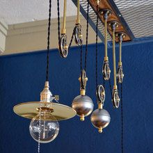 Two-Piece Steel Ball Make Our Own Pulley for Arteriors Pendant