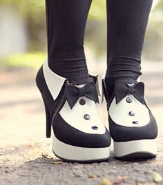 Cute tuxedo shoes, if only I was capable of walking in them