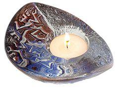 "Mats Jonasson: Glass tea candle holder ""Magic Dance"""