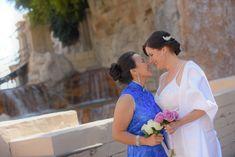 Two brides at their Las Vegas wedding | LGBTQ wedding inspiration