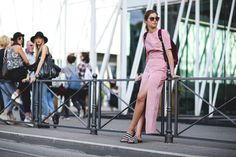 60 Head-To-Toe-Amazing Street Style Snaps From Milan Fashion Week #refinery29  http://www.refinery29.com/2015/09/94857/milan-fashion-week-spring-2016-street-style-pictures#slide-24  Is the Adidas slide becoming a classic? We think yes....