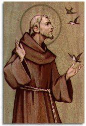 Franciscus van Assisi, deed afstand van zijn erfrecht en volgde een spirituele weg. Hij is de patroonheilige van het milieu en de dieren.