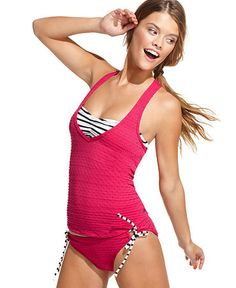 Roxy Layered Swimsuit... I'd like it in a different color but great concept! I need something like this