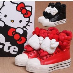 b0043acae Cute baby shoes for children in black and red color Hello Kitty Clothes, Hello  Kitty