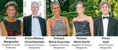 Liechtenstein royals | Princess Margaretha of Luxembourg and her family