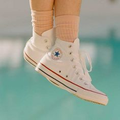 New Arrivals Converse Chuck Taylor All Star High Top Shoes for Women in Optical White High Top Converse Outfits, White High Top Converse, White High Tops, High Top Sneakers, Converse Shoes, Ladies Sneakers, Women's Sneakers, Popular Sneakers, Most Popular Shoes
