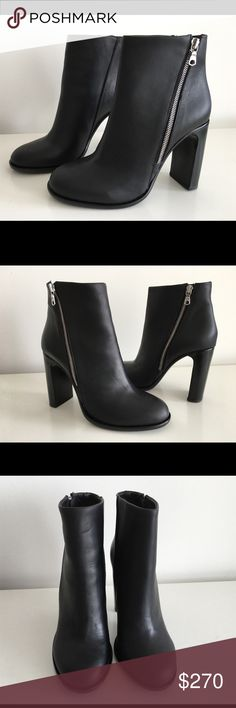 "RAG & BONE AVERY BLACK LEATHER ANKLE BOOTS RAG & BONE AVERY BLACK LEATHER ANKLE BOOTS, SIZE 40, HIGHT HEEL 4"", WITH A DIAGONAL ZIPPER RUNNING ACROSS THE SIDE, BRAND NEW WITH BOX AND DUST BAG rag & bone Shoes Ankle Boots & Booties"