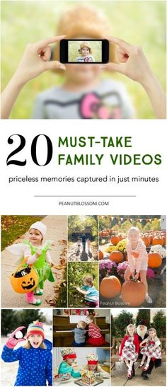 20 Must-take family videos: great ideas for family videos that you and your friends will actually want to watch! Love the 3 simple tips for capturing better footage, too.