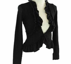 GUESS Ruffle Jacket - Fashion - Zimbio