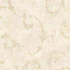 Neutral Bayley Scroll  Wallpaper