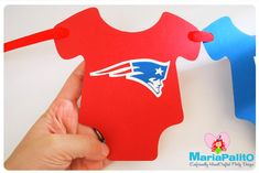Baby Shower Banner , Football  Banner, New England Patriots party banner, inspired on New England Patriots Football team A1029