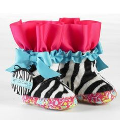 NWT MudPie Wild Child Zebra or Giraffe Print Baby Legs Ruffle Ribbon Leg Warmers