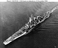 USS Guam on shakedown, 11/13/44