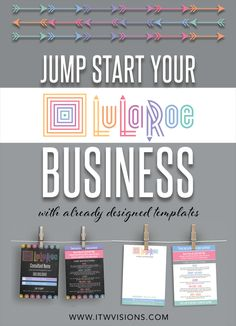 Jump start your LuLaRoe business with these already designed templates for your marketing materials! At itwvisions.com you can find many different designs and styles of materials; such as digital downloads and printed materials. lularoe business cards, lularoe care instruction cards, lularoe digital download, lularoe wall signs, lularoe punch cards, lularoe banners and much more!