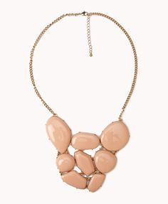 Faux Stone Cluster Necklace | FOREVER21 - 1000047786