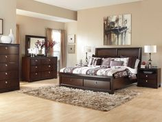 Bedroom Sets Art Van picture of sofia vergara santa clarita dark cherry 5 pc king