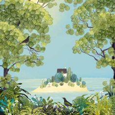 Yet more island dreaming! Hope everyone has a rip roaring weekend! Jx via Beautiful illustration by Jane Newland Naive Art, Art And Illustration, Medical Illustration, Love Drawings, Art Portfolio, Conte, Pretty Pictures, Les Oeuvres, New Art