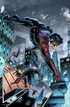 Nightwing I think I love Brett Booth. Wish he drew faces better though. Nightwing, Batgirl, Catwoman, Comic Book Artists, Comic Book Characters, Comic Character, Comic Books Art, Comic Art, Brett Booth