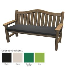 Charmant Outdoor Bench Pad Cushions   Fibre Filled Cushions For Benches   Colourful  Water Resistant Garden Bench