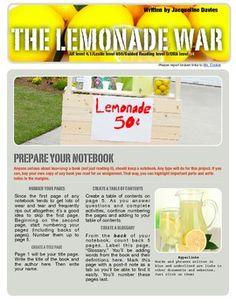 webquest the lemonade war wow this is a terrific web quest that