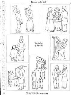 Material Didáctico: fichas para Fiestas Patrias. Colorear