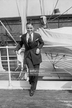 September 1921, Charlie Chaplin sailing home to England aboard the RMS Olympic.