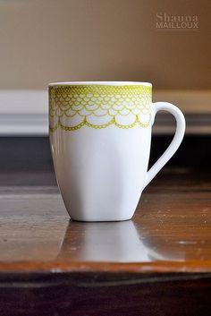 Hand Painted Chevron Mugs   Beautiful Matters