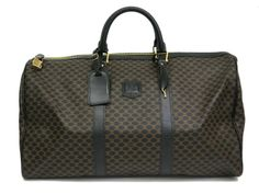 Celine Macadam Pattern Boston Bag PVC Black/Brown(BF063980). eLADY global offers free shipping worldwide. For more pre-owned luxury brand items, visit http://global.elady.com