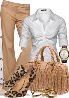 business mode damen A fashion look from October 2012 featuring beige pants, stiletto pumps and miu miu purse. Browse and shop related looks. Fashion Mode, Work Fashion, Womens Fashion, Fashion Trends, Ladies Fashion, Fashion Tips, Fashion Design, Business Outfit Frau, Business Attire