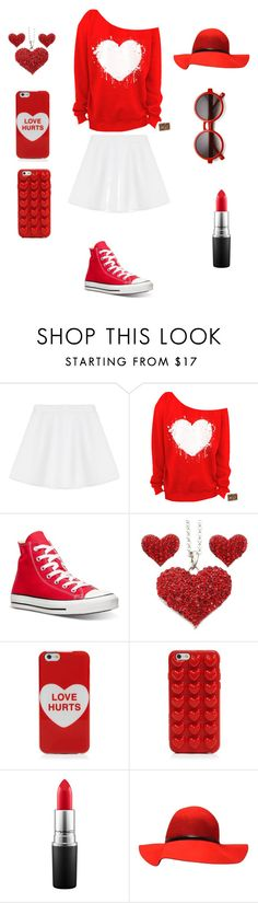 """""""Valentine Outfit for teens"""" by ritacupcakes ❤ liked on Polyvore featuring interior, interiors, interior design, home, home decor, interior decorating, RED Valentino, Converse, Marc Jacobs and MAC Cosmetics"""