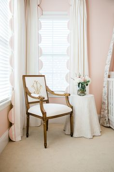 It may be Super Bowl Sunday but this sweet baby girl nursery has our full attention. Nursery Curtains Girl, Girl Nursery, Nursery Ideas, Southern Baby Nurseries, Pink Walls, Little Girl Rooms, Decoration, Room Inspiration, Interior Design