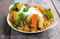 Red Lentils with Spicy Root Vegetables