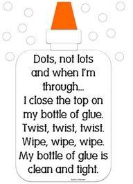Glue bottle poem