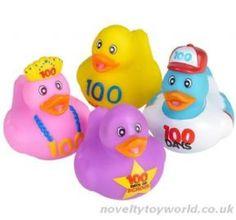 Wholesale   Novelty 100 Days of School Rubber Duck Prize (5cm)