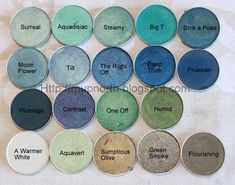 MAC Eyeshadow Swatches: Green and Blue