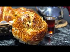 Reteta de AÇMA Turceasca🥰 (placinta turceasca) - YouTube Just Desserts, Dessert Recipes, Turkish Recipes, Bagel, Tzatziki, Picnic, Deserts, Cooking Recipes, Sweets
