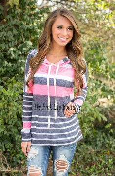 Cool and Casual Pink Hoodie