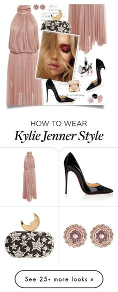 """""""Of the Night"""" by isobel-m on Polyvore featuring Christian Louboutin, Maria Lucia Hohan, Benedetta Bruzziches, Stila and Ted Baker"""