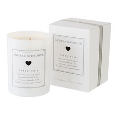 This Andrea Shroder candle is Always next to my bed. The scent really relaxes me. Tabac Noir is the scent of being around a crackling fire. This smoky wood scent will send you back to warm and inviting evenings with its unique blend of charred birch, cedar, amber, vanilla, and sandalwood. #NewYouNewBed #pineconehill