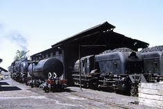 old STEAM LOCOMOTIVES in South Africa: Graaff Reinet, Railway Station - SAR Class 6 No 429