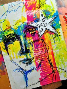 Art journal ideas with Dina Wakley | Art Journal Colors: How to Balance the Brights... the gallon/quart/pint rule ClothPaperScissors.com