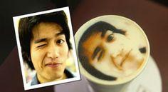 La foto sul cappuccino