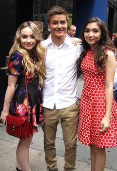 Sabrina Carpenter with Rowan Blanchard and Peyton Meyer