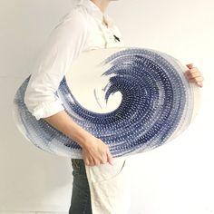 Gloucester Swoosh Jumbo Platter by Jill Rosenwald. Ceramic Decor, Ceramic Clay, Ceramic Plates, Ceramic Pottery, Pottery Art, Porcelain Ceramics, Slab Pottery, Pottery Mugs, Fine Porcelain