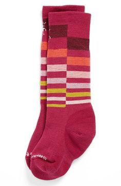 SmartWool 'Wintersport Stripe' Socks (Little Girls & Big Girls) available at #Nordstrom