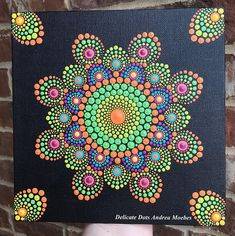 One of a kind hand painted Mandala painted on a 8x8 inch canvas panel. Painted with high quality acrylic paints. Perfect for your home or office. Sealed to protect your art for years to come. Colors reflected on your screen may vary slightly from the exact color in person. Please