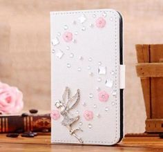 Bling Handmade Glitter Rhinestone Pearl Leather Flip Wallet Protective Case for iphone4 5 6 7P SamsungS3 S4 S5 S6 S7 N2 N3 4 5 7