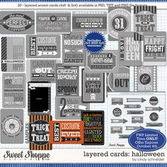 Sweet Shoppe Designs::NEW Releases::New Releases - 9/28::Cindy's Layered Cards: Halloween by Cindy Schneider