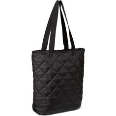 Old Navy Quilted Zip Top Tote Bag (400 CZK) ❤ liked on Polyvore featuring bags, handbags, tote bags, black, black tote bag, quilted tote, black quilted tote bag, black tote and old navy purses