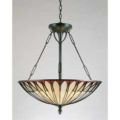 Tiffany 4-light Vintage Bronze Pendant | Overstock.com Shopping - Great Deals on Quoizel Tiffany Style